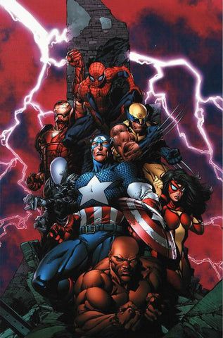New Avengers 1 Marvel Comics Artist David Finch Fine Art Canvas Giclee Print Numbered