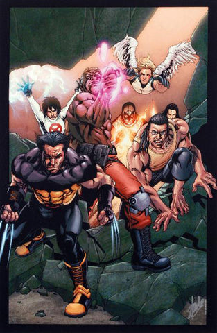 Ultimate X Men 89 Marvel Comics Artist Salvador Larroca Fine Art Canvas Giclee Print Stan Lee Hand Signed and Numbered