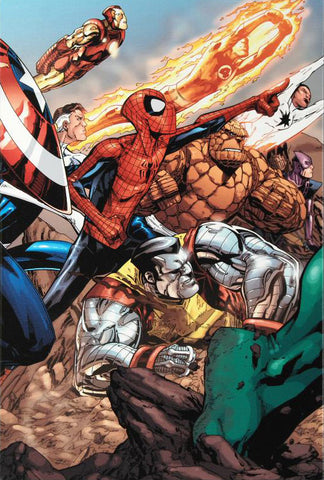 Spider Man The Secret Wars 3 Marvel Comics Artist Patrick Scherberg Fine Art Canvas Giclee Print Numbered