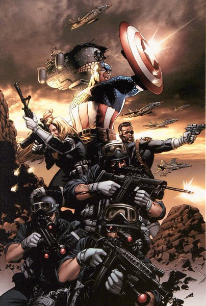 Captain America 9 Marvel Comics Artist Steve Epting Fine Art Canvas Giclee Print Numbered