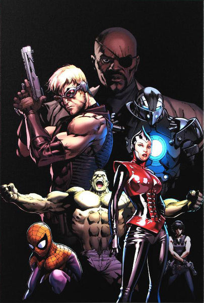 Ultimate Avengers 3 Marvel Comics Artist Carlos Pacheco Fine Art Canvas Print Numbered