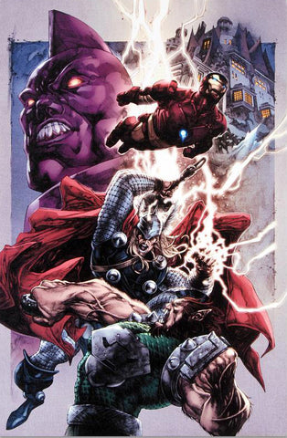 Iron Man Thor 2 Marvel Comics Artist Stephen Segovia Fine Art Canvas Giclee Print Numbered
