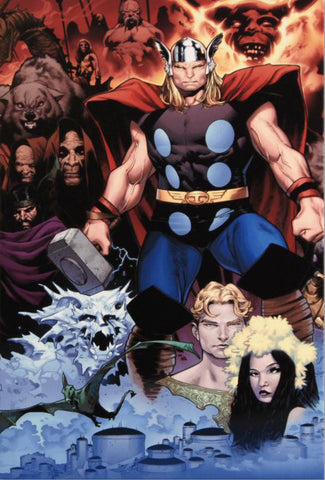 Thor Tales of Asgard by Stan Lee and Jack Kirby 1 Marvel Comics Artist Olivier Coipel Fine Art Canvas Giclee Print Numbered
