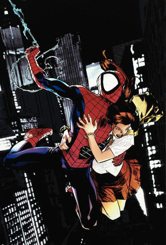 Ultimatum Spider Man Requiem 1 Marvel Comics Artist Stuart Immonen Fine Art Canvas Giclee Print Numbered