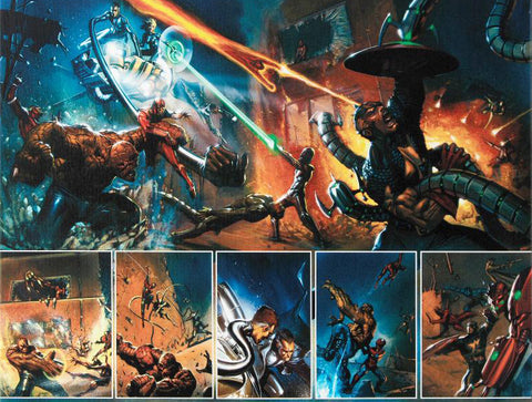 Secret War 4 Marvel Comics Artist Gabriele Dell Otto Fine Art Canvas Giclee Print Numbered