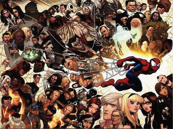 Ultimate Spider Man 150 Marvel Comics Artist David Lafuante Fine Art Canvas Giclee Print Numbered