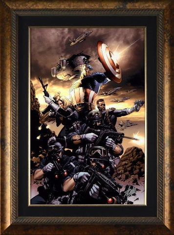 Marvel Comics Captain America 9 Artist Steve Epting Fine Art Artist Proof Canvas Giclee Print Stan Lee Hand Signed and Numbered