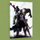 Secret Invasion 4 Marvel Comics Artist Gabriele Dell Otto Stretched Canvas Giclee Print Numbered