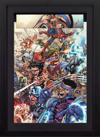 Avengers The Initiative 19 Marvel Comics Artist Harvey Tolibao Fine Art Canvas Giclee Print Numbered and Framed