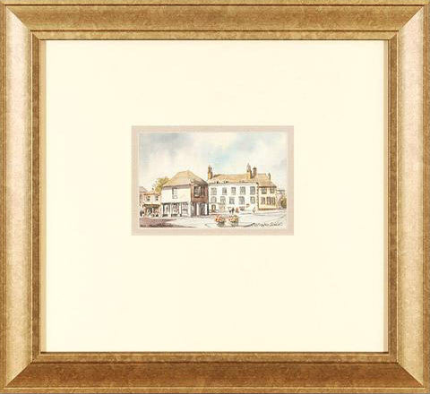 Faringdon Oxon Martin Goode Fine Art Original Watercolor Painting Artist Signed