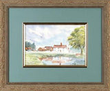 Creeds Farm Epping Martin Goode Fine Art Original Watercolor Painting Artist Hand Signed Framed