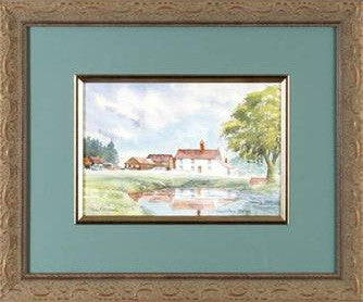 Creeds Farm Epping Martin Goode Original Watercolor Painting Artist Hand Signed Framed