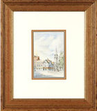 The Clock Tower Martin Goode Watercolor Painting Artist Hand Signed Framed
