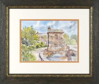 Ambleside Cumbria Martin Goode Watercolor Painting Artist Hand Signed Framed