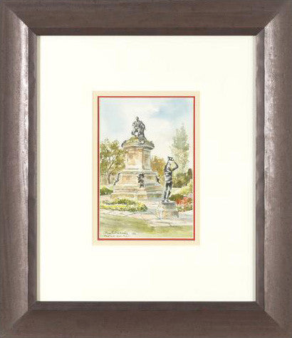 Stratford Upon Avon Martin Goode Original Watercolor Painting Artist Hand Signed Framed