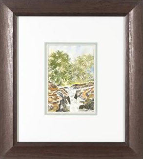 The Strid on the River Wharfe Martin Goode Original Fine Art Watercolor Painting Framed and Artist Hand Signed