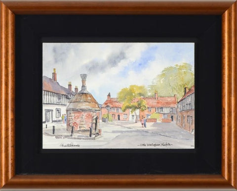 Martin Goode Wye College Kent Original Watercolor Painting Artist Hand Signed Framed