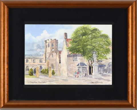 Somerton Somerset Martin Goode Original Watercolor Painting Artist Hand Signed and Framed