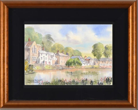 Cromford Derbyshire Martin Goode Original Watercolor Painting Artist Hand Signed and Framed