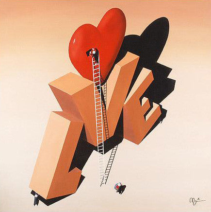 Building Love Mark Grieves Artist Fine Art Canvas Giclee Print Artist Hand Signed and Numbered