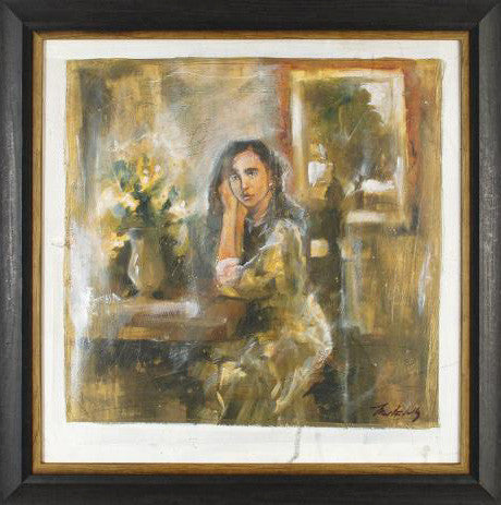 Solitude Marta Wiley Original Mixed Media Canvas Painting Artist Hand Signed and Framed