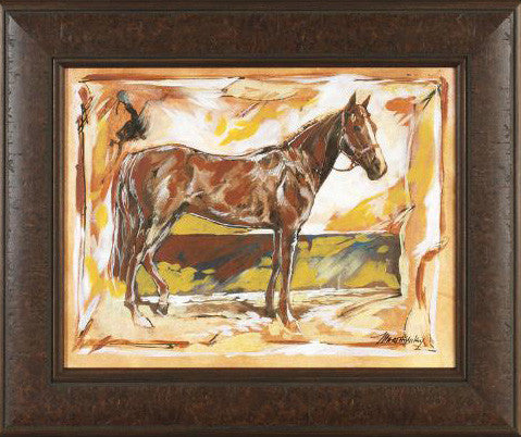 Stable III Marta Wiley Mixed Media Painting on Canvas Artist Hand Signed Framed