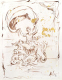 Cherubs Marta Wiley Original Mixed Media Ink Sketch Artist Hand Signed and Thumb Printed
