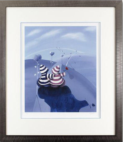 Lovers Lane Mike Jackson Fine Art Giclee Print Artist Hand Signed Numbered and Framed