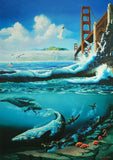 Golden Gate Bay Michael Nelson Fine Art Lithograph Print Artist Hand Signed and Numbered