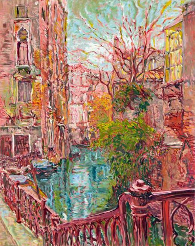 Venice Reflections Marco Sassone Serigraph Print Artist Hand Signed and Numbered