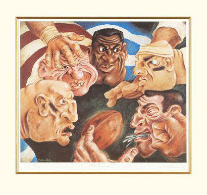 The Scrum Matthew Watts Fine Art Giclee Print Artist Hand Signed and Numbered