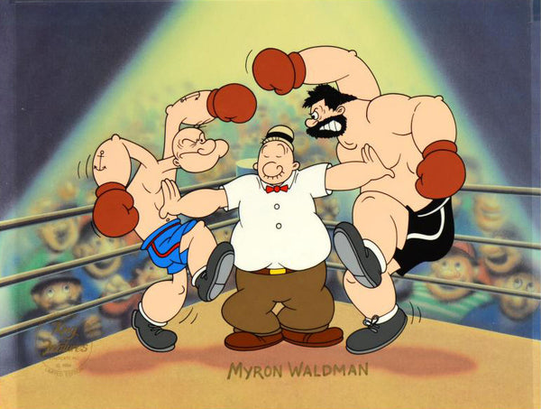 Lets Rumble Myron Waldman Hand Painted Artist Proof Animation Cel Artist Hand Signed and AP Numbered