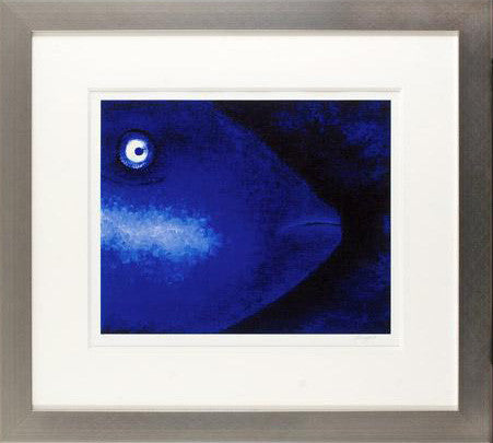Blue Loner Nicola Read Fine Art Giclee Artist Hand Signed Print Numbered and Framed