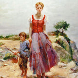 Cliffside Retreat Pino Daeni Giclee Print Artist Hand Signed and Numbered