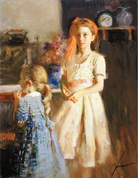 Best Friends Pino Daeni Giclee Print Artist Hand Signed and Numbered