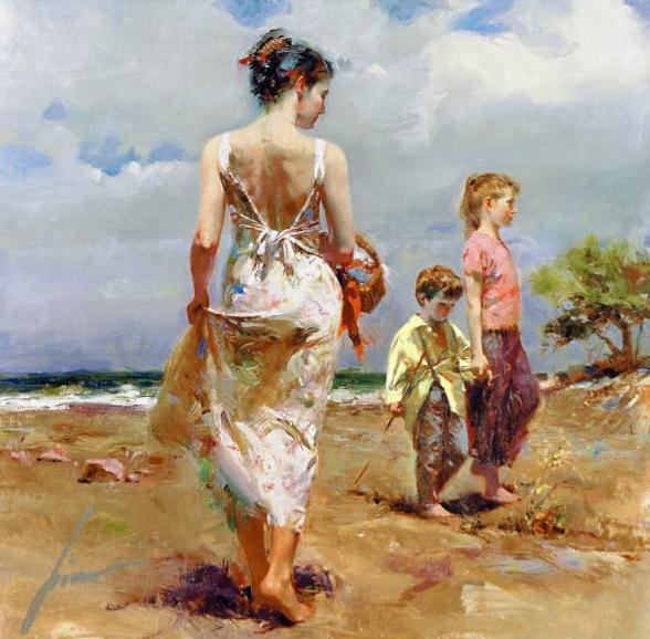 Mediterranean Breeze Pino Daeni Canvas Giclee Print Artist Hand Signed and Numbered