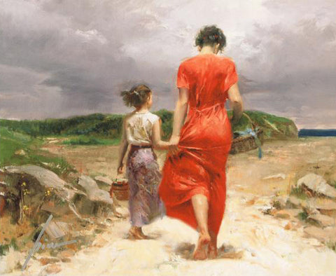 Pino Daeni Homeward Bound Fine Art Canvas Giclee Print Artist Hand Signed and Numbered