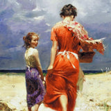 Summer Retreat Pino Daeni Canvas Giclee Print Artist Hand Signed and Numbered
