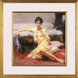 Parisian Girl Pino Daeni Giclee Print Artist Hand Signed Numbered and Framed