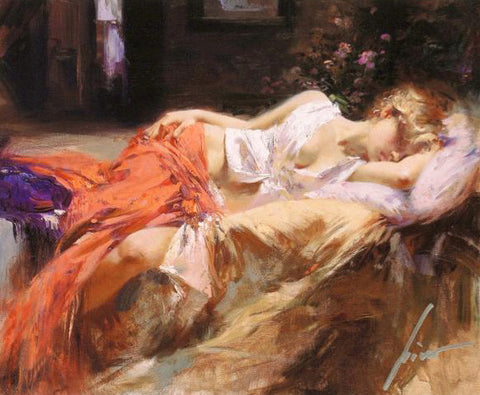 Pino Daeni Day Dream Fine Art Canvas Giclee Print Artist Hand Signed and Numbered