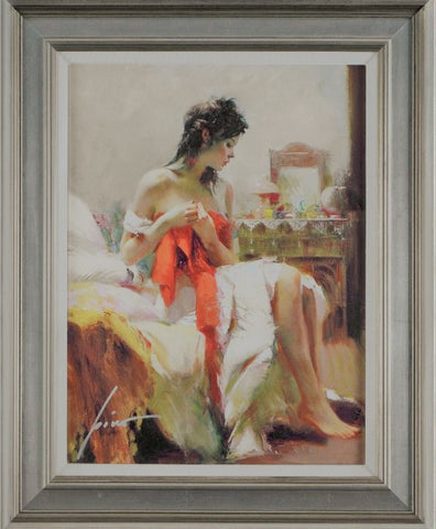 Expectations Pino Daeni Canvas Giclee Print Artist Hand Signed Numbered and Framed