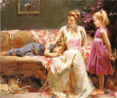 Pino Daeni A Time to Remember Fine Art Canvas Giclee Print Artist Hand Signed and Numbered