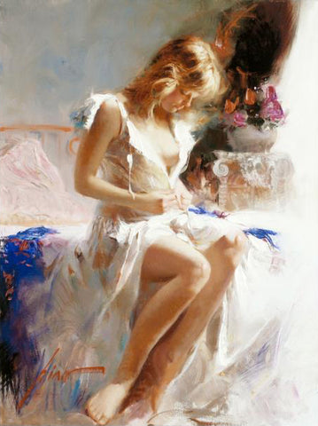 Early Morning Pino Daeni Fine Art Giclee Print Artist Hand Signed and Numbered