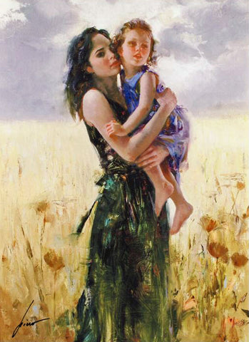 Close to My Heart Pino Daeni Giclee Print Artist Hand Signed and Numbered