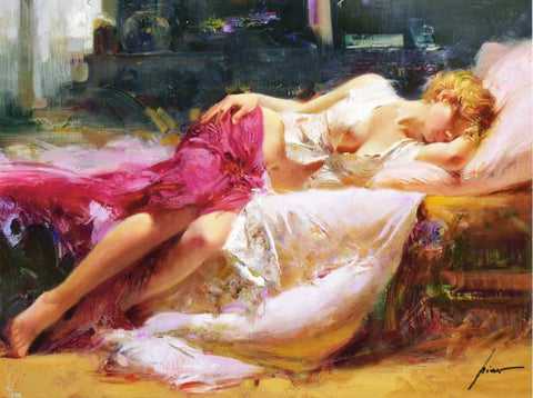 Dreaming in Color Pino Daeni Canvas Giclee Print Artist Hand Signed and Numbered