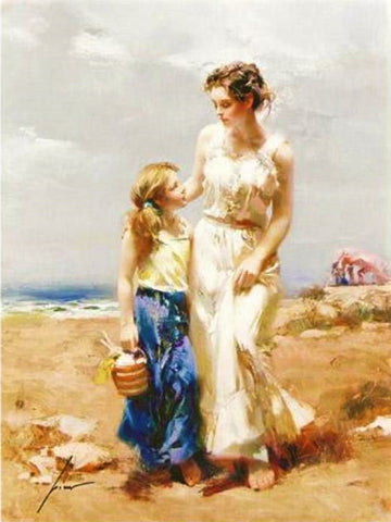 By the Sea Pino Daeni Giclee Print Artist Hand Signed and Numbered