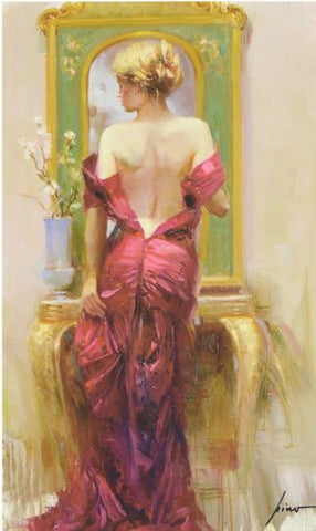 Elegant Seduction Pino Daeni Canvas Giclee Print Artist Hand Signed and Numbered