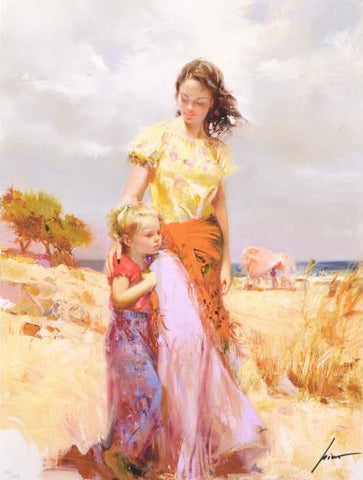 Family Retreat Pino Daeni Canvas Giclee Print Artist Hand Signed and Numbered