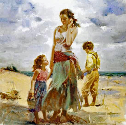 Golden Afternoon Pino Daeni Giclee Print Artist Hand Signed and Numbered
