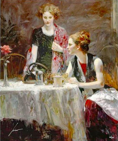 After Dinner Pino Daeni Giclee Print Artist Hand Signed and Numbered